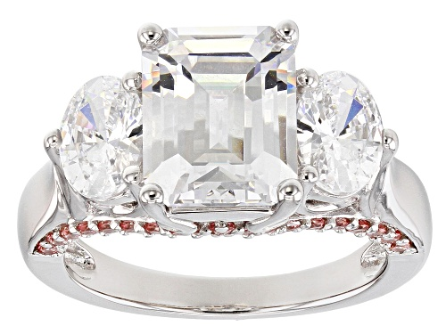 Bella Luce Luxe ™ Featuring Fancy Pink Zirconia From Swarovski ® Rhodium Over Silver Ring - Size 8