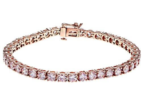 Photo of Bella Luce Luxe™ Fancy Morganite Color Zirconia From Swarovski® Eterno™Rose Over Silver Bracelet - Size 8