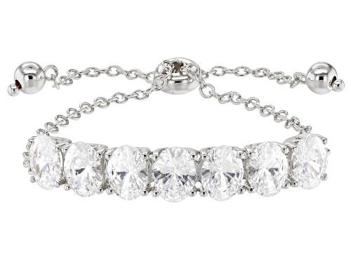 Photo of Bella Luce Luxe™ 14.42CTW Featuring Zirconia From Swarovski® Rhodium Over Silver Adjustable Bracelet
