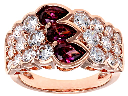 Photo of Bella Luce Luxe ® 5.63ctw Red and White Zirconia From Swarovski ® Eterno ™ Rose Ring (2.55ctw DEW) - Size 7
