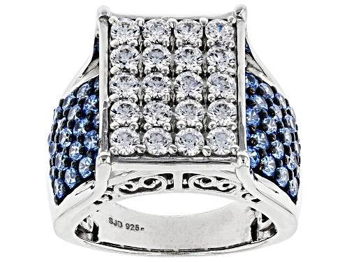 Photo of Bella Luce Luxe ™ Arctic Blue And White Zirconia From Swarovski ® Rhodium Over Sterling Silver Ring - Size 7