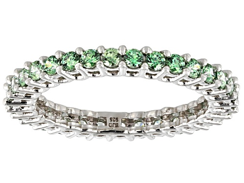 Photo of Bella Luce Luxe ™ 2.00ctw Fancy Green Zirconia From Swarovski ® Rhodium Over Silver Ring - Size 8