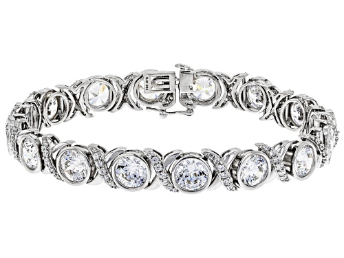 Photo of Bella Luce Luxe™39.31ctw Heritage Cut Zirconia From Swarovski® Rhodium Over Silver Bracelet - Size 7.5