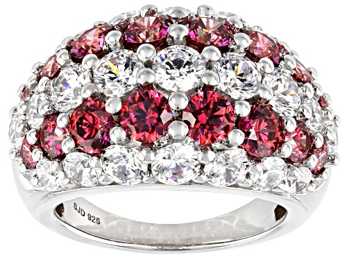 Photo of Bella Luce Luxe ™ 12.18ctw Red and White Zirconia From Swarovski ® Rhodium Over Silver Ring - Size 7