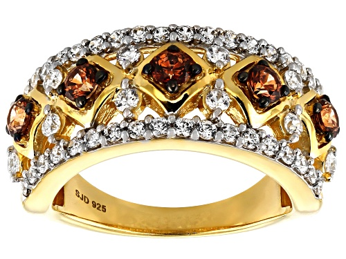Photo of Bella Luce Luxe®2.46ctw Caramel and White Zirconia From Swarovski®Eterno™Yellow Ring (1.39ctw DEW) - Size 6