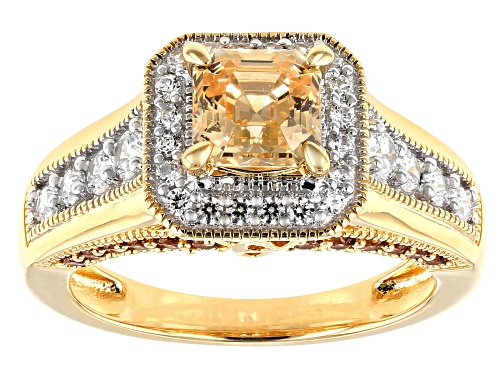 Photo of Bella Luce Luxe™Imperial Mosaic Amber,Caramel,and White Zirconia From Swarovski®Eterno Yellow Ring - Size 8