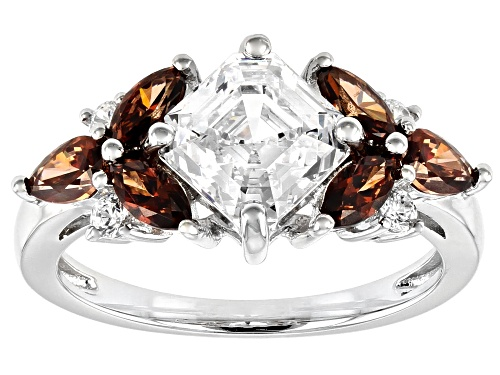 Photo of Bella Luce Luxe™ Imperial Mosaic White and Caramel Zirconia From Swarovski®Rhodium Over Silver Ring - Size 8