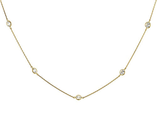 Photo of Bella Luce Luxe ™ 4.00ctw featuring Zirconia from Swarovski ® 10k Yellow Gold Necklace - Size 18