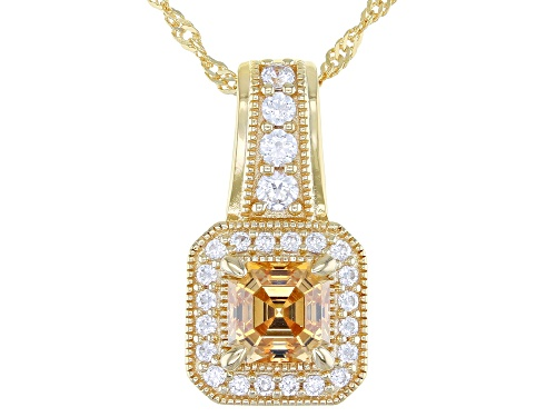 Photo of Bella Luce Luxe™ Imperial Mosaic Featuring Zirconia From Swarovski® Eterno Yellow Pendant With Chain
