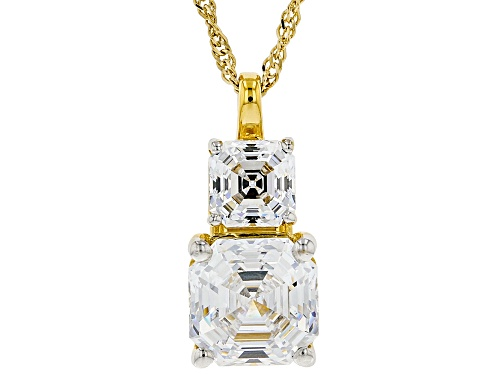 Bella Luce Luxe™ Zirconia From Swarovski® Imperial Mosaic Eterno ™ Yellow Pendant With Chain