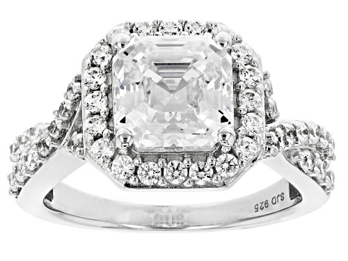 Photo of Bella Luce Luxe ™ featuring Imperial Mosaic Zirconia from Swarovski ® Rhodium Over Sterling Ring - Size 8