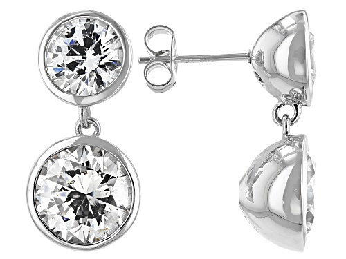 Photo of Bella Luce Luxe™ 8.89ctw Featuring Zirconia from Swarovski® Rhodium Over Silver Dangle Earrings
