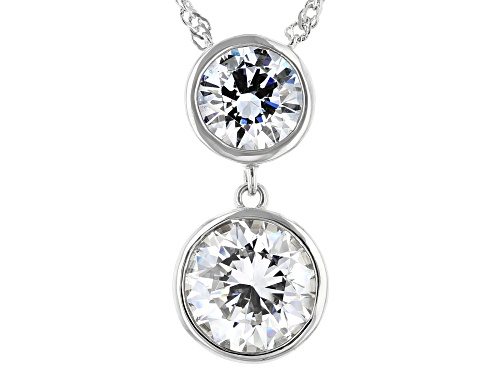 Photo of Bella Luce Luxe ™ 8.89ctw Featuring Zirconia From Swarovski ® Rhodium Over Sterling Silver Necklace - Size 18