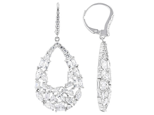 Photo of Bella Luce Luxe ™ 12.73ctw Featuring Zirconia From Swarovski ® Rhodium Over Sterling Silver Earrings