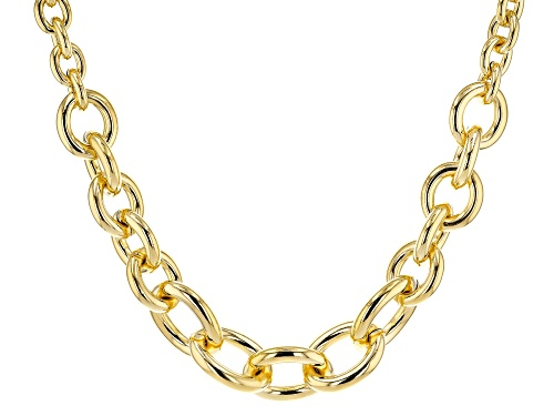 Photo of Moda Al Massimo® 18k Yellow Gold Over Bronze Graduated Cable 21 Inch Necklace - Size 21