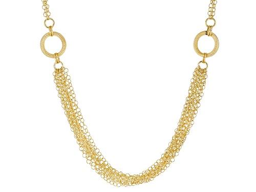 Photo of Moda Al Massimo® 18k Yellow Gold Over Bronze Multi-Strand Curb 28.5 Inch Necklace - Size 28.5