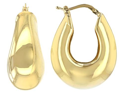 Photo of Moda Al Massimo® 18k Yellow Gold Over Bronze Artform Faceted Hoop Earrings