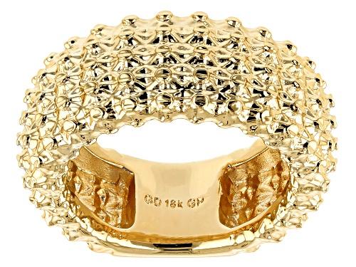 Photo of Moda Al Massimo® 18k Yellow Gold Over Bronze Designer Lattice Ring - Size 7