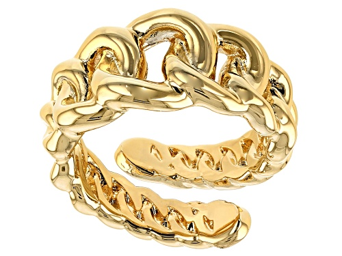 Photo of Moda Al Massimo® 18k Yellow Gold Over Bronze Graduated Curb Band Ring - Size 8