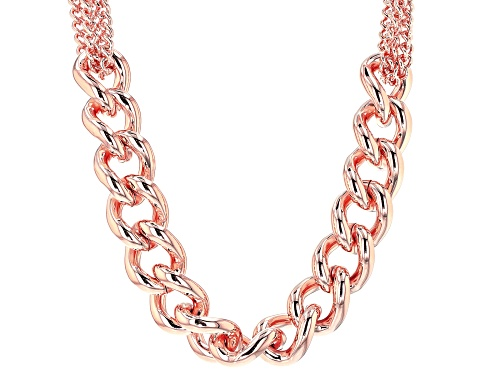 Photo of Moda Al Massimo® 18k Rose Gold Over Bronze Grande Curb 20 1/2 Inch Necklace - Size 20.5