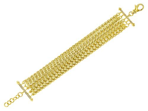 Photo of Moda Al Massimo® 18k Yellow Gold Over Bronze Multi-Strand Spiga 9 Inch Bracelet - Size 9