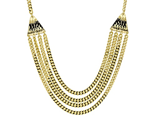 Photo of Moda Al Massimo® 18k Yellow Gold Over Bronze Multi-Strand Curb 23 1/2 Inch Necklace - Size 23.5