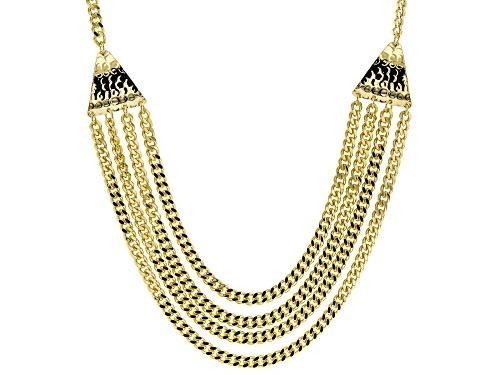 Moda Al Massimo® 18k Yellow Gold Over Bronze Multi-Strand Curb 23 1/2 Inch Necklace - Size 23.5