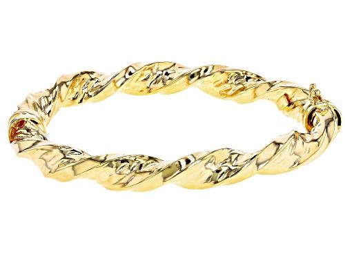 Photo of Moda Al Massimo® 18k Yellow Gold over Bronze Torchon 7 inch bangle bracelet - Size 7