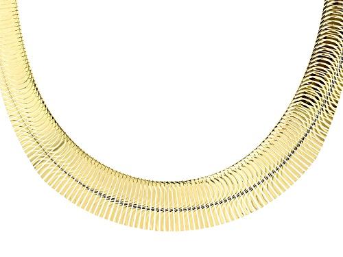 Photo of Moda Al Massimo® 18k Yellow Gold over Bronze Graduated Half Moon Cleopatra 18 inch Necklace - Size 18