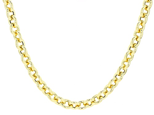 Photo of Moda Al Massimo® 18k Yellow Gold over Bronze Polished Rolo 18 inch Necklace - Size 18