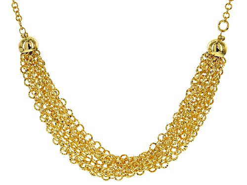 Photo of Moda Al Massimo® 18k Yellow Gold Over Bronze Multi-Row Diamond Cut Cable 20 inch Necklace - Size 20