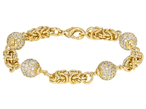 Photo of Moda Al Massimo® 7.75 Ctw Bella Luce (R) 18K Yellow Gold & Rhodium Over Bronze Ball Bracelet - Size 7.5