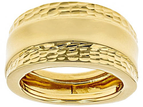 Photo of Moda Al Massimo® 18K Yellow Gold Over Bronze Wide Polished Etched Band - Size 7