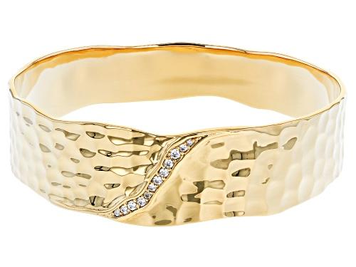Photo of Moda Al Massimo®  18K Yellow Gold Over Bronze Bracelet 8 Inch With Bella Luce® Diamond Simulant - Size 8