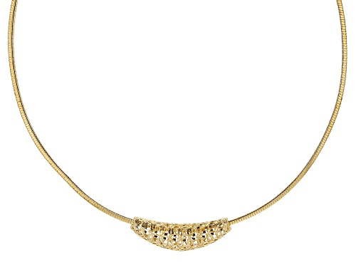 Photo of Moda Al Massimo™ 18k Yellow Gold Over Bronze Filigree Slide with Omega 18 inch Necklace - Size 18