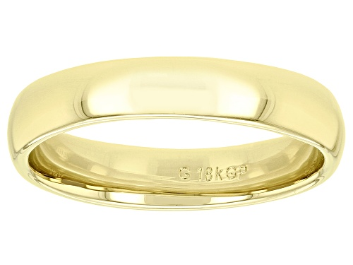 Photo of Moda Al Massimo® 18k Yellow Gold Over Bronze Comfort Fit 4MM Band Ring - Size 7