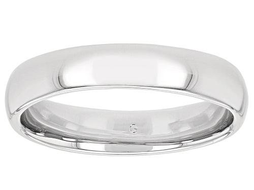 Photo of Moda Al Massimo® Rhodium Over Bronze Comfort Fit 4MM Band Ring - Size 7