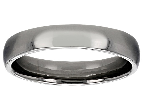 Photo of Moda Al Massimo® Gunmetal Rhodium Over Bronze Comfort Fit 4MM Band Ring - Size 7