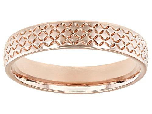 Photo of Moda Al Massimo® 18k Rose Gold Over Bronze Comfort Fit 4MM Designer Band Ring - Size 6