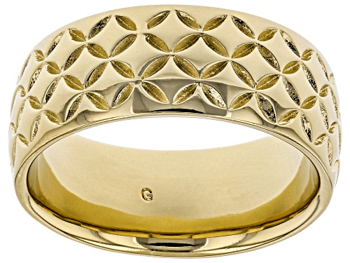 Photo of Moda Al Massimo® 18k Yellow Gold Over Bronze Comfort Fit 8MM Designer Band Ring - Size 6