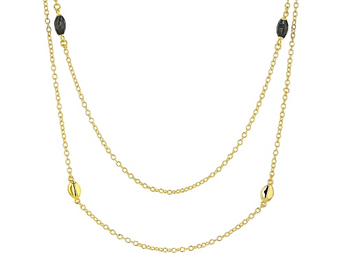 Photo of MODA AL MASSIMO(R) 18K YELLOW GOLD OVER BRONZE STATION NECKLACE - Size 28.5