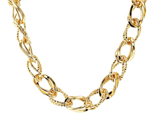 "Moda Al Massimo™ 18K Yellow Gold Over Bronze Necklace 20"" - Size 20"