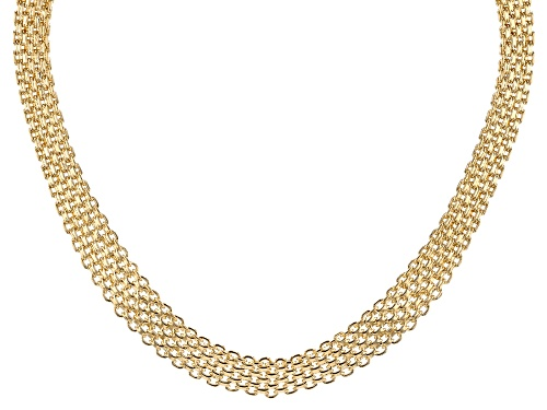 Photo of Moda Al Massimo™ 18K Yellow Gold Over Bronze Bismark Chain 18 Inch Necklace - Size 18