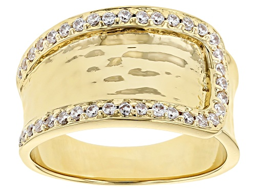 Photo of Moda Al Massimo® 18K Yellow Gold Over Bronze 0.70ctw Bella Luce® Diamond Simulant Buckle Ring - Size 7