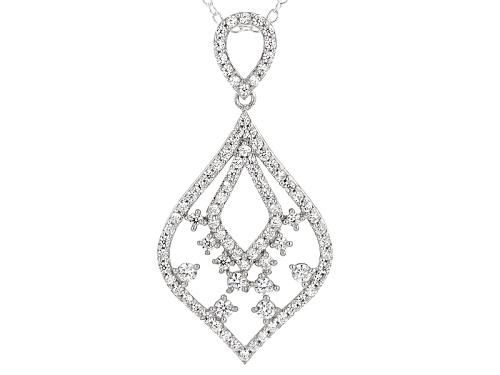 Photo of Michael O' Connor For Bella Luce® Diamond Simulant Rhodium Over Sterling & Eterno™Pendant/Chain