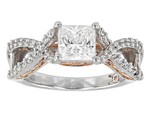 Photo of Michael O' Connor For Bella Luce®2.56ctw Diamond Simulant Rhodium Over Sterling & Eterno™Ring - Size 7