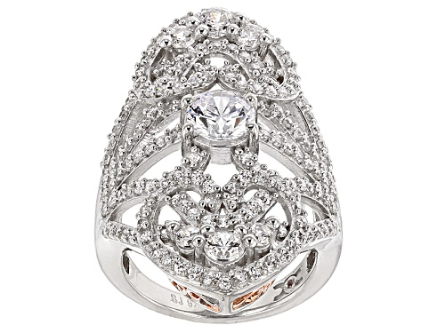 Michael O' Connor For Bella Luce ® Diamond Simulant Rhodium Over Sterling Silver & Eterno™ Ring - Size 5