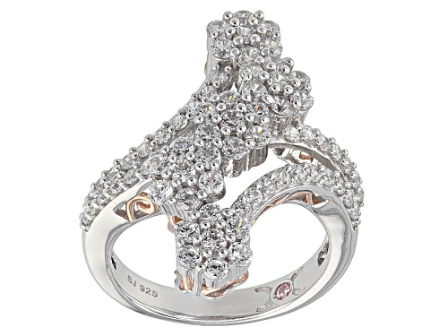 Photo of Michael O' Connor For Bella Luce®3.31ctw Diamond Simulant Rhodium Over Sterling & Eterno™Ring - Size 7