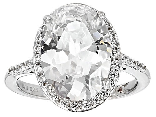 Photo of Michael O' Connor For Bella Luce® Diamond Simulant Rhodium Over Sterling & Eterno™ Rose Ring - Size 12