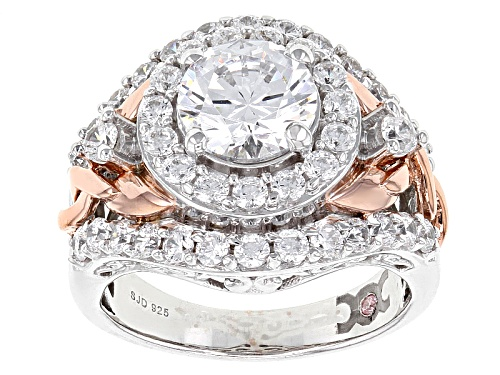 Photo of Michael O' Connor For Bella Luce®6.51ctw Diamond Simulant Rhodium Over Silver& Eterno™Rose Ring - Size 11